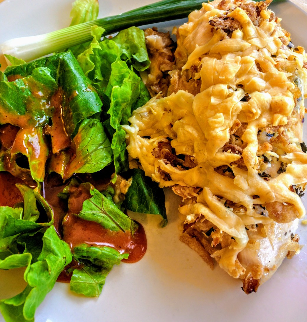 CrunchyOnion and Herb Parm Chicken2